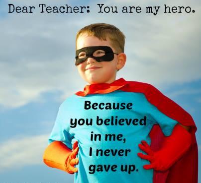 essay about teacher as a hero